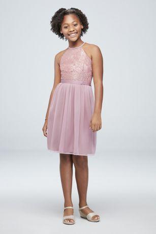 e3ea6da8d6aa Soft & Flowy;Structured David's Bridal Short Bridesmaid Dress