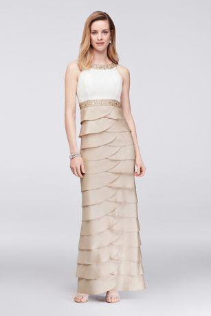 Long Sheath Halter Dress - Jessica Howard