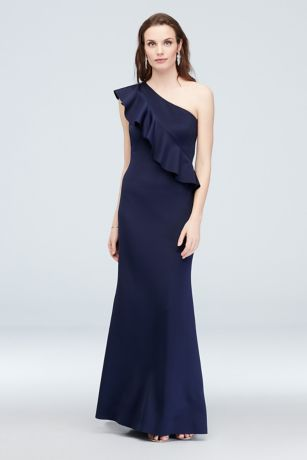 Long Sheath One Shoulder Dress - Jessica Howard