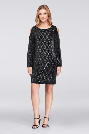 Short Sheath 3/4 Sleeves Dress - Jessica Howard