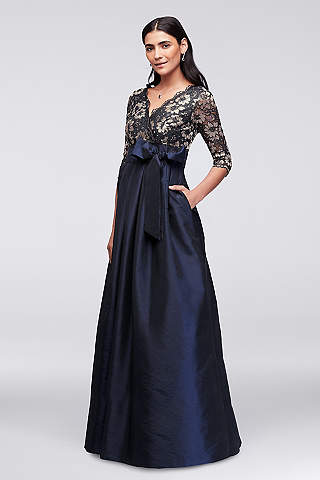 Long Ballgown 3/4 Sleeves Formal Dresses Dress   Jessica Howard