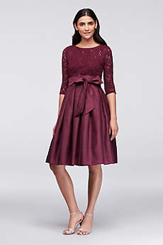 Short A-Line 3/4 Sleeves Cocktail and Party Dress - Jessica Howard