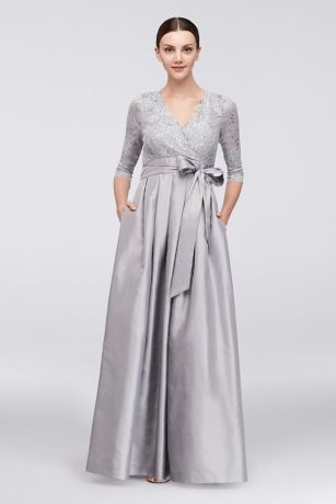 675df9cf834 Long Ballgown 3 4 Sleeves Dress - Jessica Howard