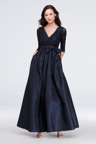 6fe585b2dff Long Ballgown 3 4 Sleeves Dress - Jessica Howard