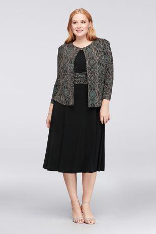 Tea Length A-Line Jacket Dress - Jessica Howard