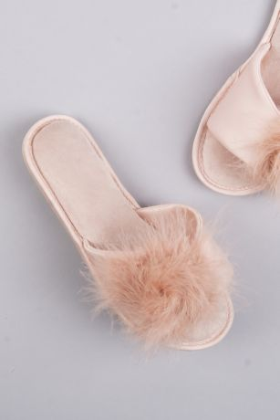 Jessica Simpson Pink Slippers (Jessica Simpson Feathered Slide Slippers)