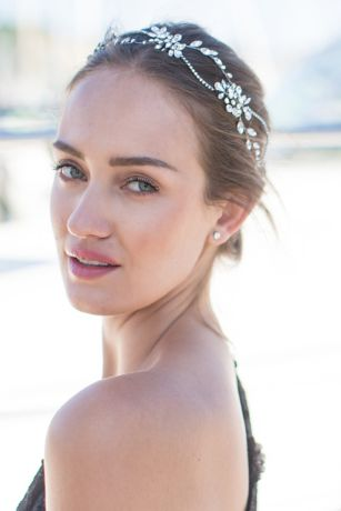 Double-Strand Crystal Halo with Ribbon Tie