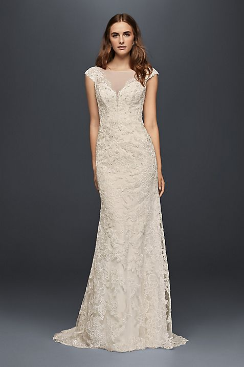 Long Sheath Vintage Wedding Dress Wonder By Jenny Packham Mouse Over To Zoom