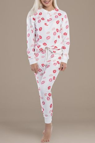 Lip Print Loungewear Set