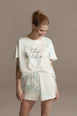 The Bride Tie-Dye Pajama Tee and Shorts Set