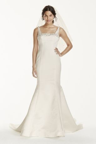 As-Is Mermaid Wedding Dress with Square Neck