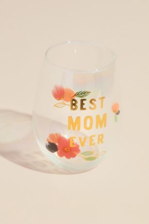 Best Mom Ever Ombre Stemless Wine Glass