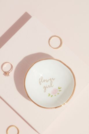 Flower Girl Gilded Ring and Trinket Dish