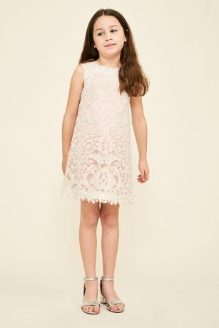 Honeysuckle flower girl dress davids bridal short sheath tank dress tadashi shoji mightylinksfo