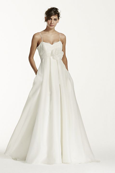 Spaghetti Strap Empire Waist Ball Gown | David\'s Bridal