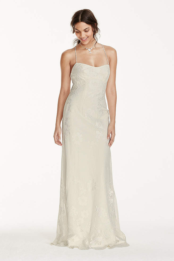 Spaghetti Strap Wedding Dresses Gowns David S Bridal