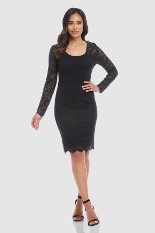 Short Sheath Long Sleeves Dress - Karen Kane