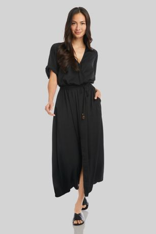 Tea Length Short Sleeves Dress - Karen Kane