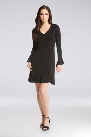 Short Sheath 3/4 Sleeves Dress - Karen Kane