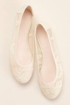 Melissa Sweet Ivory Ballet Flats (Melissa Sweet Lace Ballet Flat)