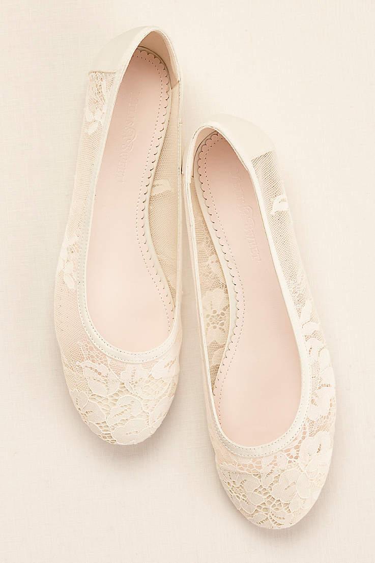 Ivory Wedding Bridal Shoes Flats Heels David S Bridal