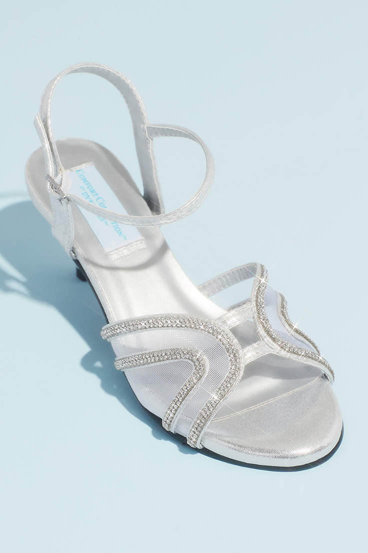 953fa6fc3 Benjamin Walk Grey;Ivory Sandals (Swooping Strap Metallic Sandals with Mesh  Insets)