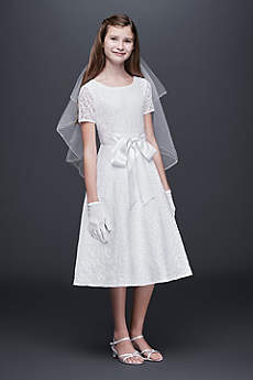 Short A-Line Short Sleeves Dress - US Angels
