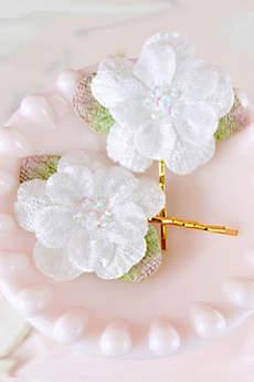 Handmade Velvet Floral Hair Pin Set