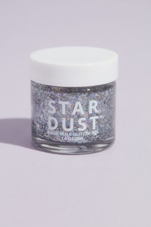 Star Dust Aloe Vera Glitter Gel in Iridescent Silv