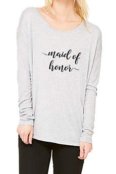 Maid of Honor Calligraphy Shirt
