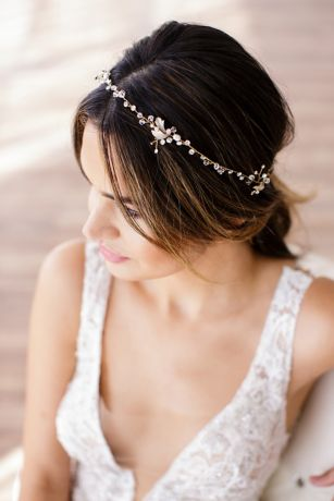 Halo Headband with Crystals and Freshwater Pearls