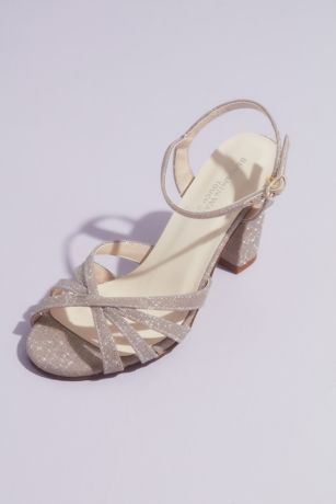 Touch Ups Beige;Grey;Ivory Heeled Sandals (Maeve Glittery Block Heel Sandals)