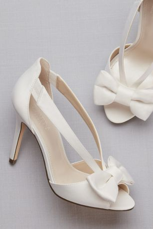 twopiece strappy bow pumps davids bridal