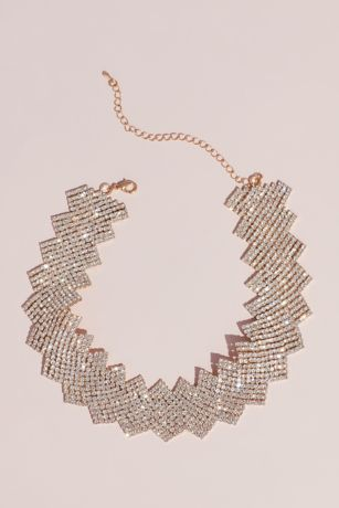 Crystal Zigzag Statement Necklace