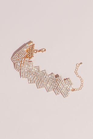 Crystal Zigzag Statement Bracelet