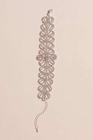Allover Petals Crystal Floral Bracelet
