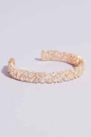 Mixed Stone Cubic Zirconia Cuff Bracelet