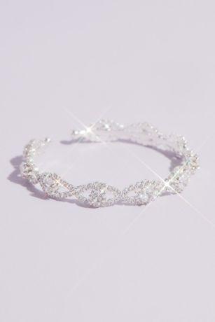 Pave Infinity Links Crystal Cuff Bracelet