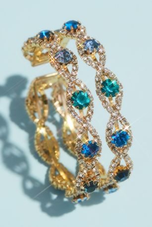 Pave Infinity Cuff Bracelet with Accent Gemstones