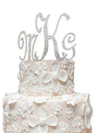 Monogram Cake Topper With Swarovski Crystals   Wedding Gifts U0026 Decorations