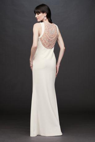 Long Sheath Wedding Dress - Aidan Mattox