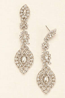 Large Statement Medallion Drop Earrings