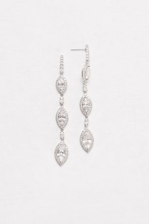 Marquise-Cut Cubic Zirconia Drop Earrings