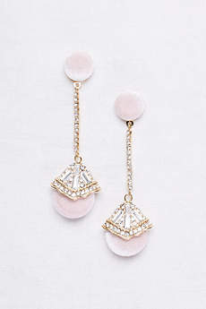Velvet Deco Drop Earrings