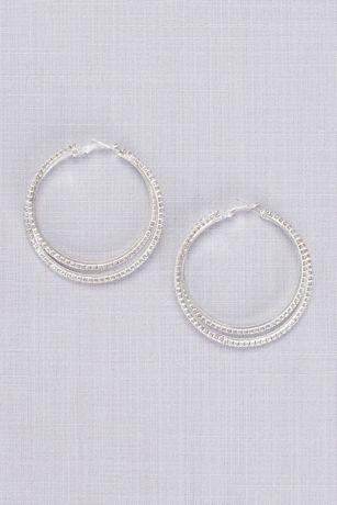 Overlapping Crystal Hoop Earrings