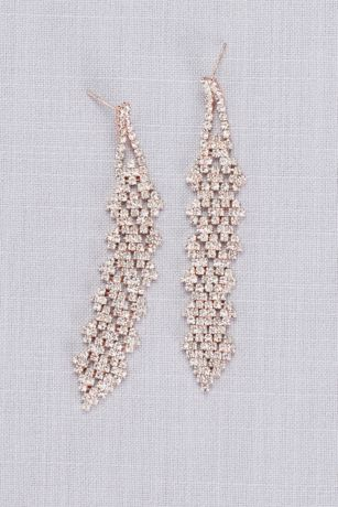 Interwoven Crystal Cluster Dangling Earrings