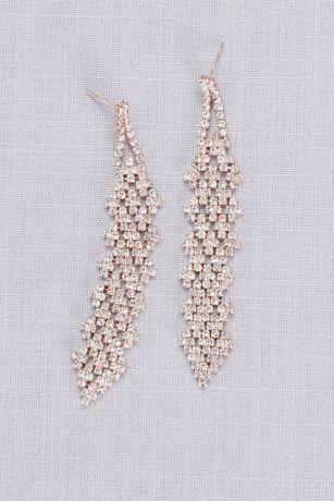 Interwoven Crystal Cluster Dangling Earrings