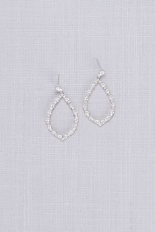 Crystal Teardrop Outline Earrings