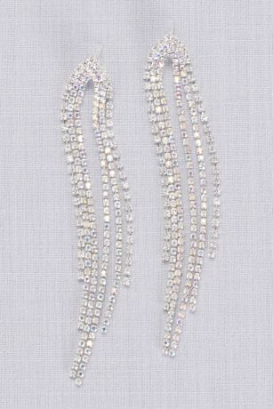 Dangling Crystal Strand Earrings