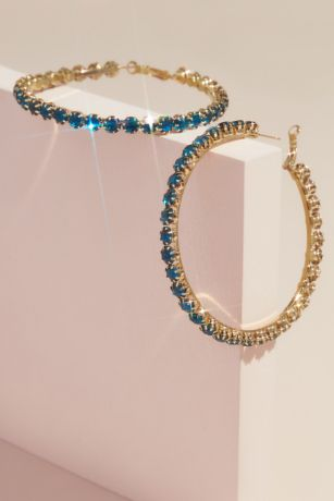 Casted Crystal Statement Hoops